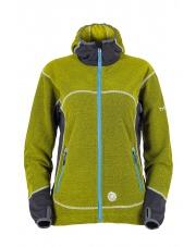 Bluza polarowa damska chite/zielona