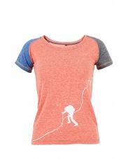 Damska koszulka KINDI Lady red/blue/grey
