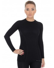 Koszulka damska ACTIVE WOOL długi rękaw/czarna