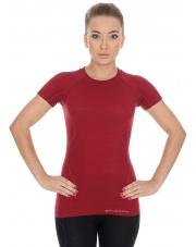 Koszulka damska ACTIVE WOOL krótki rękaw/burgundowy