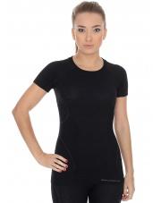 Koszulka damska ACTIVE WOOL krótki rękaw/czarny