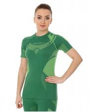 Koszulka damska DRY Brubeck z krótkim rękawem/zielony-limonka
