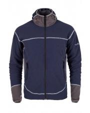 Bluza polarowa męska Milo Chite/blue night-dark grey