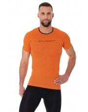 Koszulka męska 3D Run PRO z krótkim rękawem/pomarańczowy