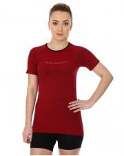 Koszulka damska 3D Run PRO z krótkim rękawem/wiśniowa