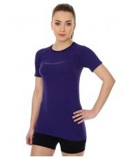 Koszulka damska 3D Run PRO z krótkim rękawem/fioletowa