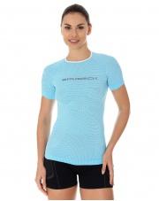 Koszulka damska 3D Run PRO z krótkim rękawem/błękitna