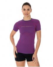 Koszulka damska 3D Run PRO z krótkim rękawem/purpurowa
