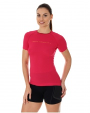 Koszulka damska 3D Run PRO z krótkim rękawem/malinowa