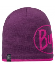 Buff Czapka Knitted & Polar Logo Plum
