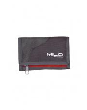 Portfel Milo  WALLY grey/burgundy