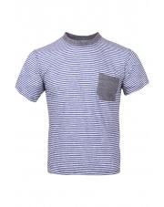 Koszulka bawełniana męska  FLOKA blue stripes