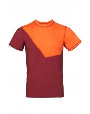 Koszulka męska  NIWALI burgundy/orange