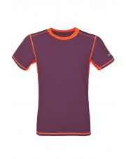 Koszulka męska TLELL plum violet/salmon orange