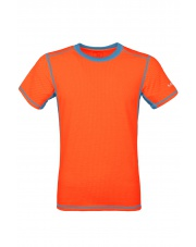 Koszulka męska  TLELL salmon orange/ocean blue