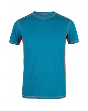 Koszulka męska  TLELL turquoise/orange