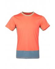 Koszulka męska VADI salmon orange/blue spruce