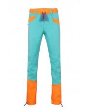 Spodnie wspinaczkowe damskie Julian turquoise/orange