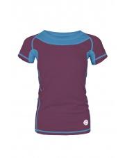 Koszulka damska TLELL LADY plum violet/ocean blue