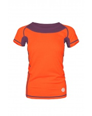 Koszulka damska TLELL LADY salmon orange/plum violet