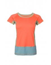 Koszulka damska VADI LADY salmon orange/blue spruce
