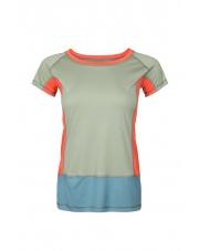 Koszulka damska VADI LADY olive green/spruce blue