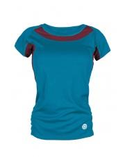 Koszulka damska TLELL LADY turquoise/burgundy
