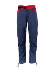 Spodnie wspinaczkowe męskie  AKI blue nights/dark red