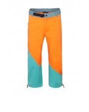 Spodnie wspinaczkowe  JULIAN 3/4 orange/turquoise