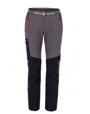 Spodnie Trekingowe Milo Vino Szaro-Czarne czerwone zamki