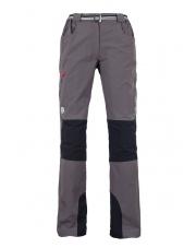 Damskie spodnie trekingowe Milo Tacul lady/szare-czerwony zamek