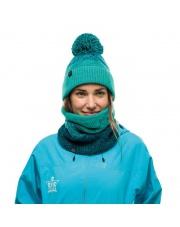 Czapka Buff Knitted & Fleece Hat Masha TURQUOISE