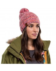 Buff Czapka Zimowa Knitted & Fleece Hat Margo FLAMINGO PINK
