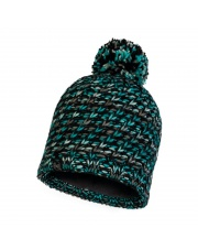 Czapka Zimowa Buff Knitted & Fleece Hat Valya TURQUOISE
