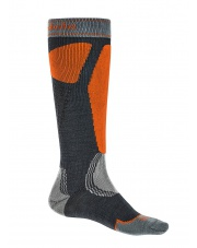 Skarpety narciarskie Ski Easy On Merino E - gunmetal/orange