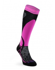 Skarpety narciarskie Ski Mid Merino E - black/fluro pink