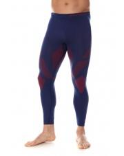 Termoaktywne spodnie męskie DRY granat-czerwony