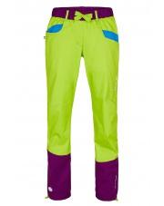 Damskie spodnie wspinaczkowe KULTI LADY lime green/dark violet